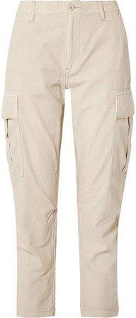 Cotton-ripstop Cargo Pants - Beige