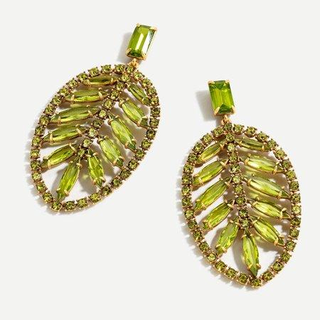 J.Crew: Wild Palm Statement Earrings For Women