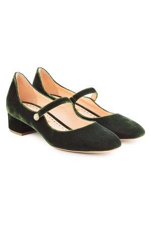 Velvet Mary-Jane heels Gr. IT 41