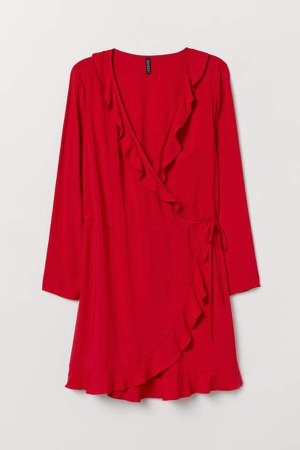 H&M+ Wrap Dress - Red