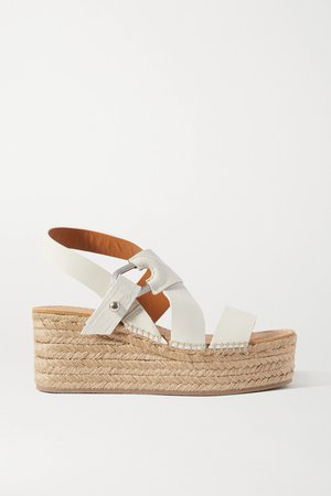 White August leather espadrille platform sandals | rag & bone | NET-A-PORTER