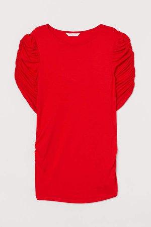 MAMA Puff-sleeved Top - Orange