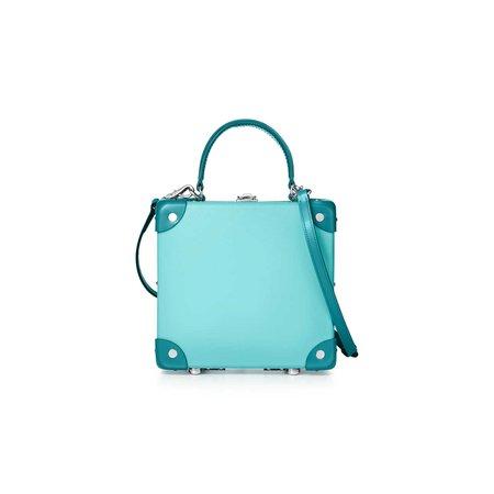 "Tiffany x GLOBE-TROTTER 7"" London Square bag in Tiffany Blue®. | Tiffany & Co."