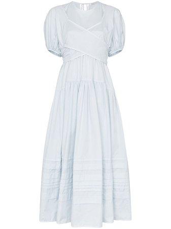 Cecilie Bahnsen Tie Detail Flared Dress - Farfetch