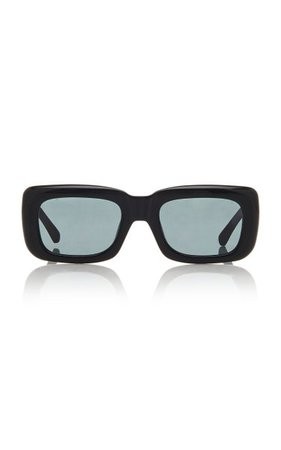 X Linda Farrow Marfa Acetate Square Sunglasses By The Attico | Moda Operandi