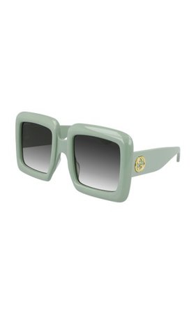 Oversized Square-Frame Acetate Sunglasses By Gucci | Moda Operandi