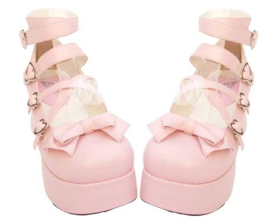 Pink Lolita platform shoes
