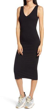 Ribbed Body-Con Midi Dress