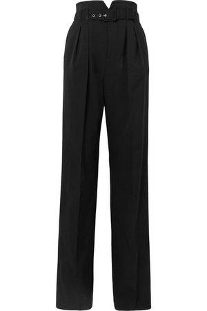 REDValentino | Belted grain de poudre wide-leg pants | NET-A-PORTER.COM