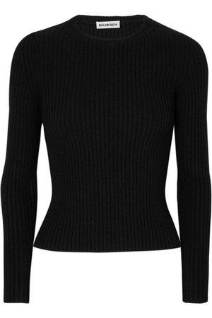 Balenciaga   Ribbed-knit top   NET-A-PORTER.COM