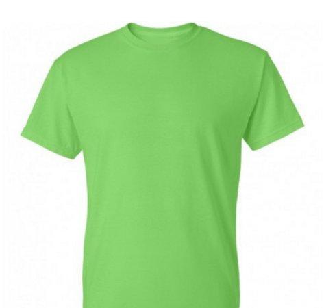 light green tee shirt
