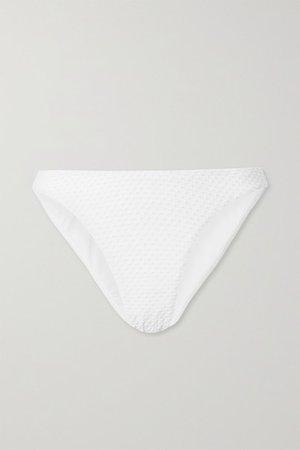 Swiss-dot Bikini Briefs - White