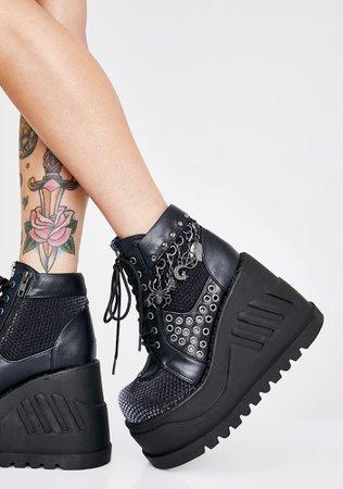 Demonia Charm Boots   Dolls Kill