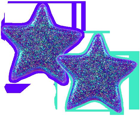 purple glitter stars