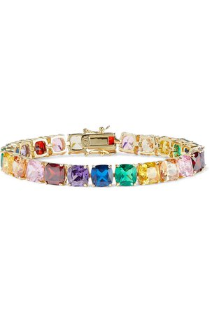 Multicolor Gold-plated crystal bracelet | Sale up to 70% off | THE OUTNET | CZ by KENNETH JAY LANE | THE OUTNET