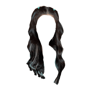 black hair png twin pigtails