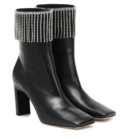 Exclusive To Mytheresa – Isa Embellished Leather Ankle Boots - Wandler | Mytheresa