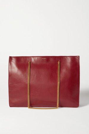 Medium Leather Tote - Red