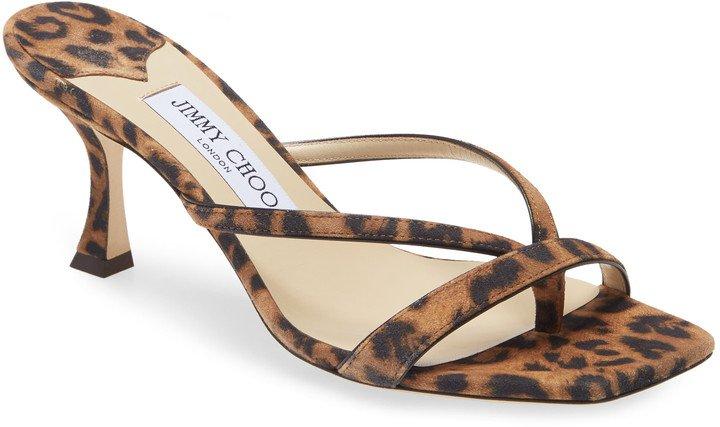 Maelie Leopard Print Sandal