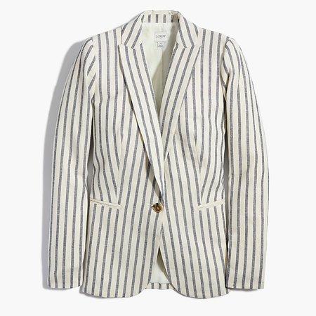J.Crew Factory: Striped Linen-cotton Holland Blazer For Women