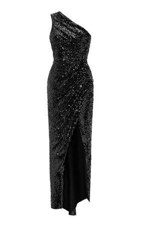 Asymmetric Draped Sequined Maxi Dress By Rasario | Moda Operandi