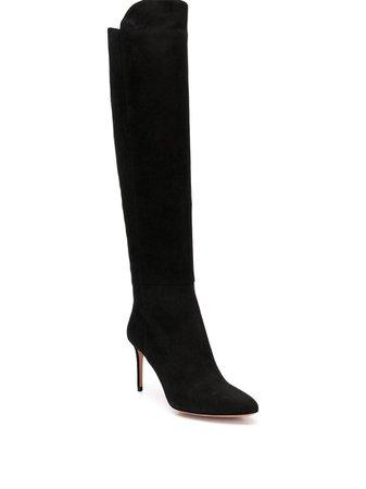 Aquazzura Suede High Heel Boots - Farfetch
