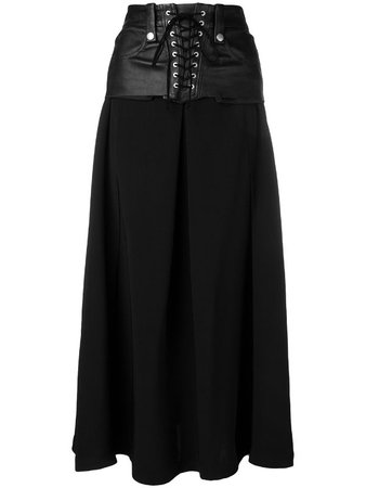 UNRAVEL PROJECT lace up skirt - FARFETCH