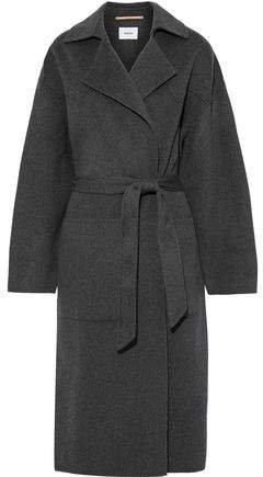 Wool And Silk-blend Felt Coat