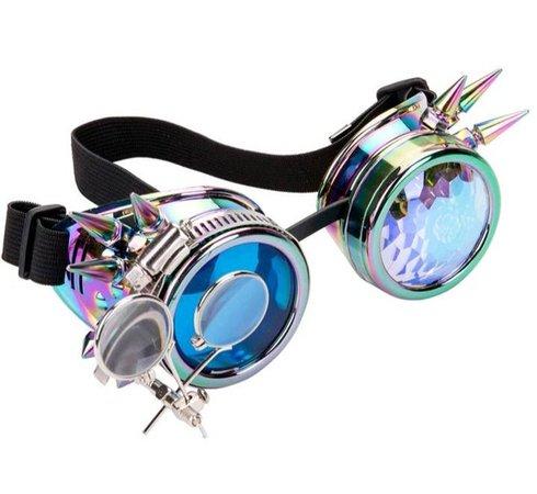 Spiked Diffraction lenses Rave glasseskaleidoscope Steampunk | Etsy