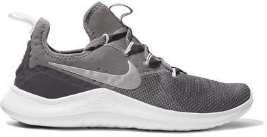 Free Tr 8 Stretch-knit And Mesh Sneakers - Gray