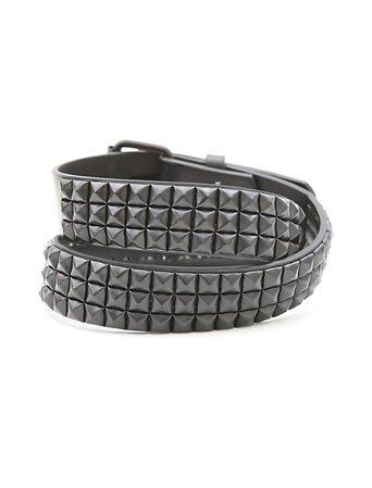 Black pyramid studded belt
