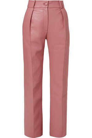MATÉRIEL | Faux leather straight-leg pants | NET-A-PORTER.COM