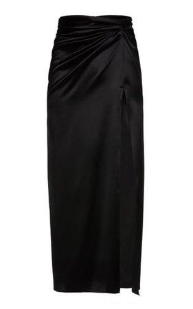 Leg Slit Silk-Blend Midi Skirt By Magda Butrym | Moda Operandi