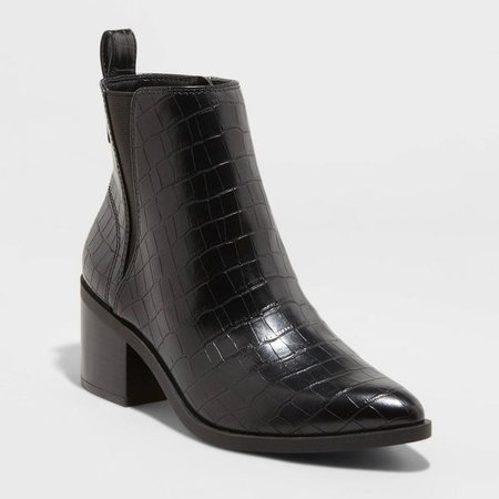 Women's Carolyn Block Heeled Chelsea Boots - A New Day™ Black : Target
