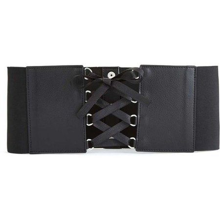 Miss Selfridge Black Lace Up Corset Belt