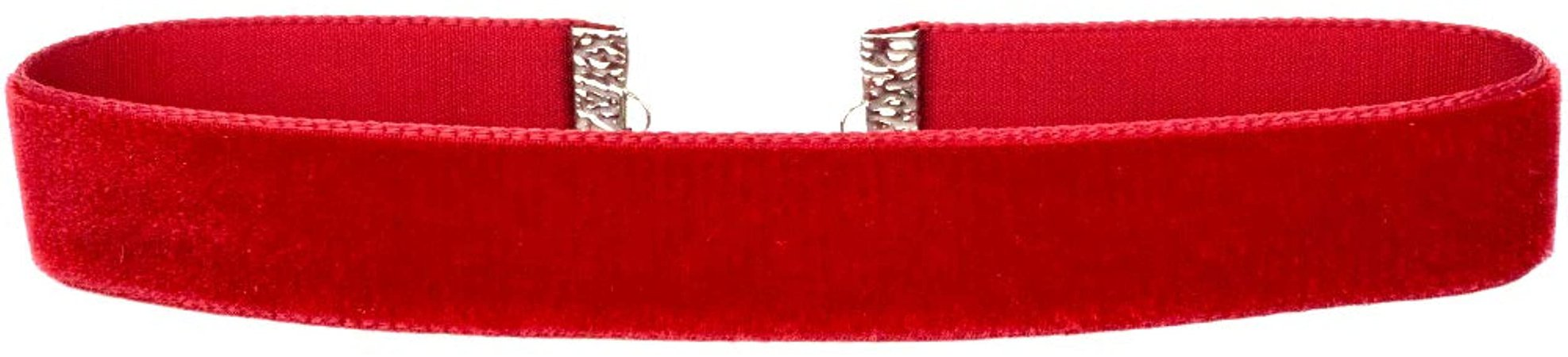 "Amazon.com: Twilight's Fancy 5/8"" 16mm Plain Velvet Ribbon Choker Necklace (Red, Large): Jewelry"