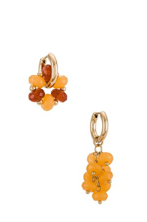 8 Other Reasons Beaded Mixed Earring in Orange   REVOLVE