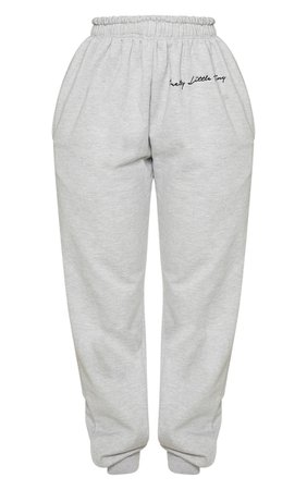 Prettylittlething Shape Grey Embroidered Joggers   PrettyLittleThing USA
