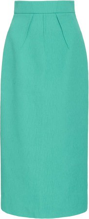 Emilia Wickstead Lorinda High-Rise Crepe Skirt