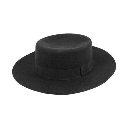 Wool Felt Boater Hat