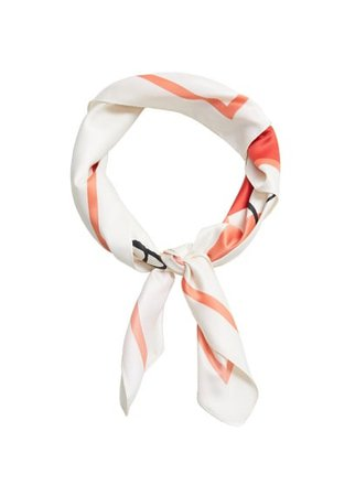 MANGO Printed satin scarf