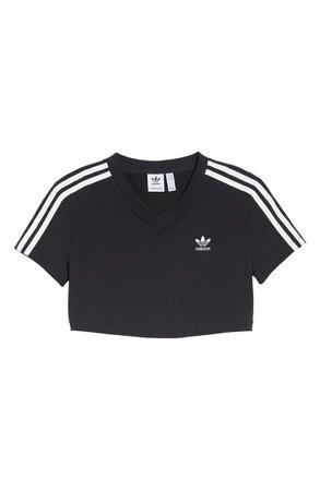 adidas Crop Logo Tee black