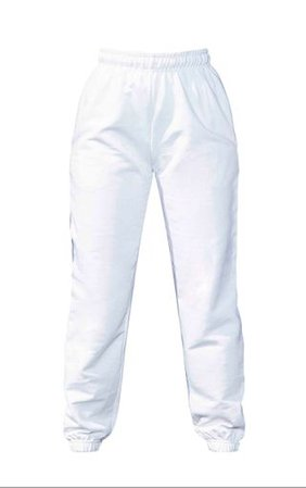 White Casual Jogger | Trousers | PrettyLittleThing