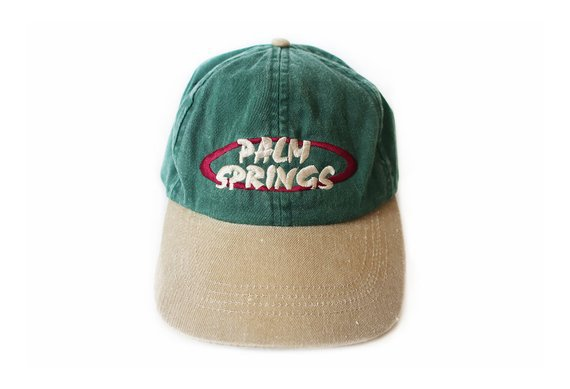 vintage hat / 90s dad hat / Palm Springs hat / 1990s drab tan | Etsy