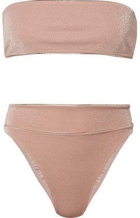 Martini Metallic Bandeau Bikini - Pink