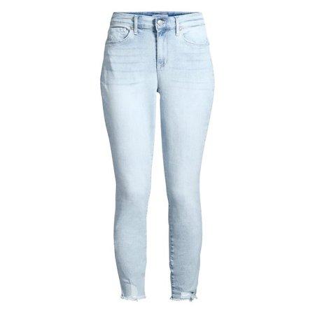Sofia Vergara - Sofia Jeans Rosa Curvy Ripped Hem High Waist Ankle Jean Women's - Walmart.com - Walmart.com blue