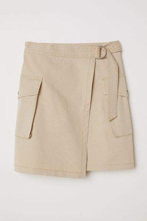 Short Cargo Skirt - Beige