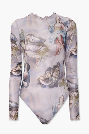 Renaissance Graphic Bodysuit | Forever 21