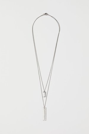 2-pack necklaces - Silver-coloured - Men | H&M GB