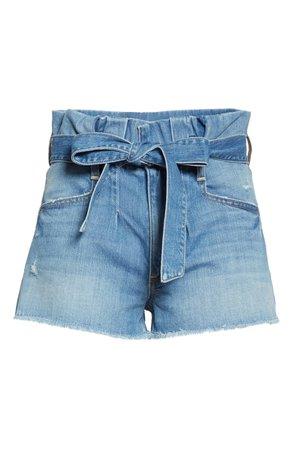 Alice + Olivia Jeans Good Paperbag Waist Denim Shorts (Suspicious) | Nordstrom